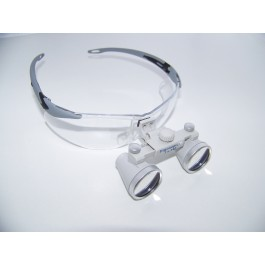ErgonoptiX Comfort surgical Loupes - Galilean - 3.0X, grey Flex safetyframe