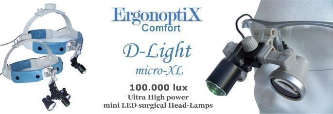 ErgonoptiX Comfort - D-Light micro - ultra high power mini LED surgical Headlamp -1
