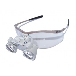 ErgonoptiX Comfort surgical mini Loupes - micro Galilean - 3.0X - Flex metal safety frames, silver