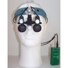 D-Light Duo-HD - shadowless dual LED, sharp light edge surgical headlight - on loupes with headband - front - 600